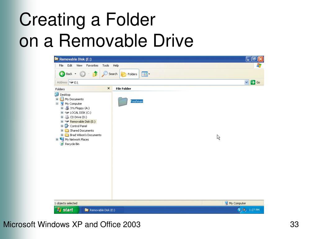 Creating a Folder