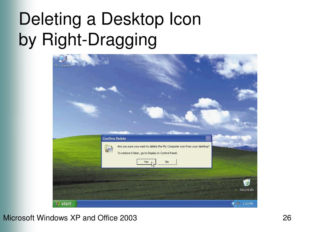 Deleting a Desktop Icon