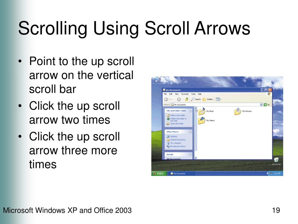 Scrolling Using Scroll Arrows