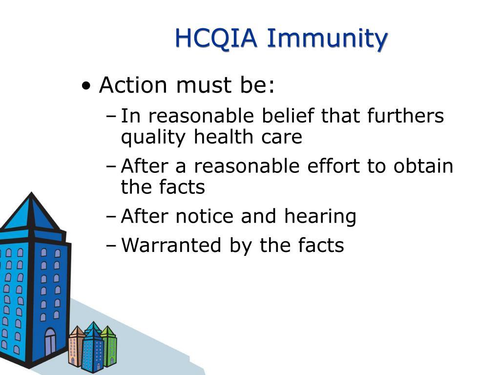 HCQIA Immunity