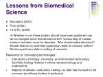 lessons from biomedical science6