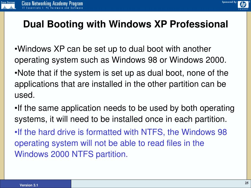 Dual Booting with Windows XP Professional