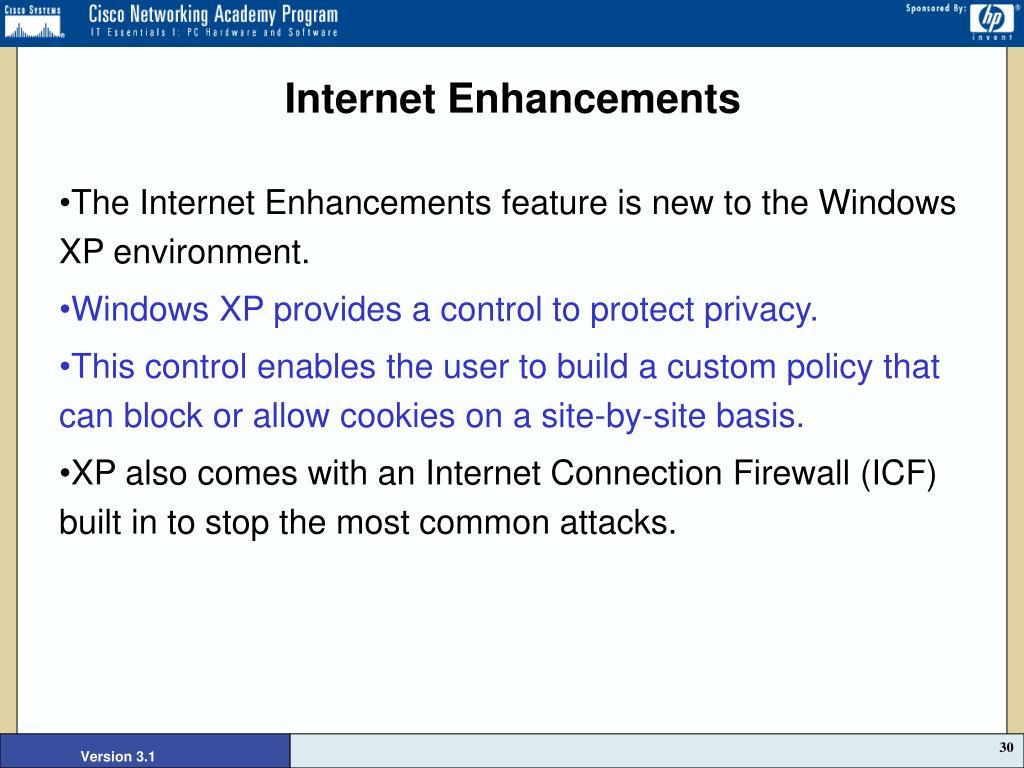 Internet Enhancements