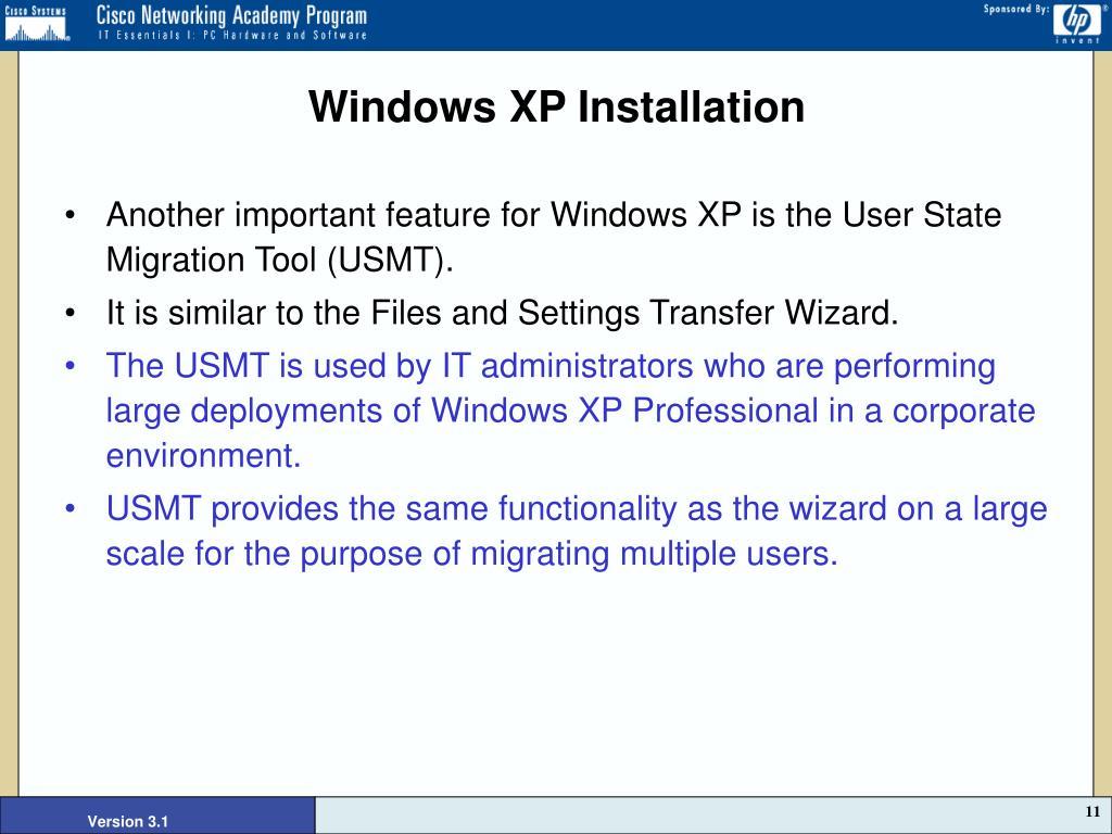 Windows XP Installation