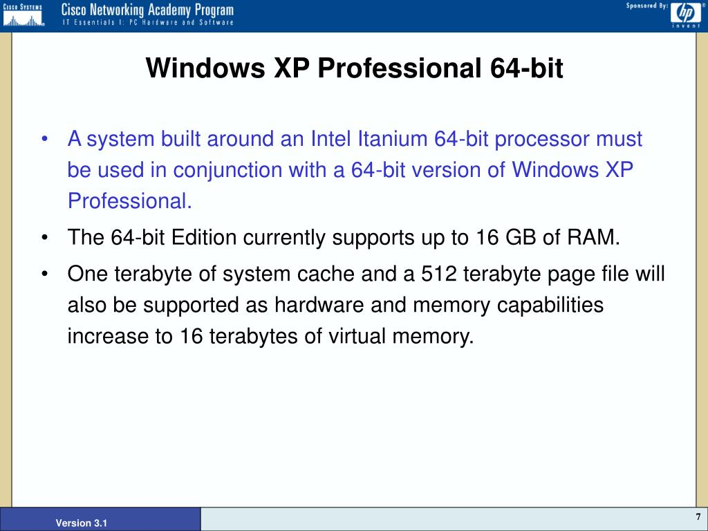 Windows XP Professional 64-bit