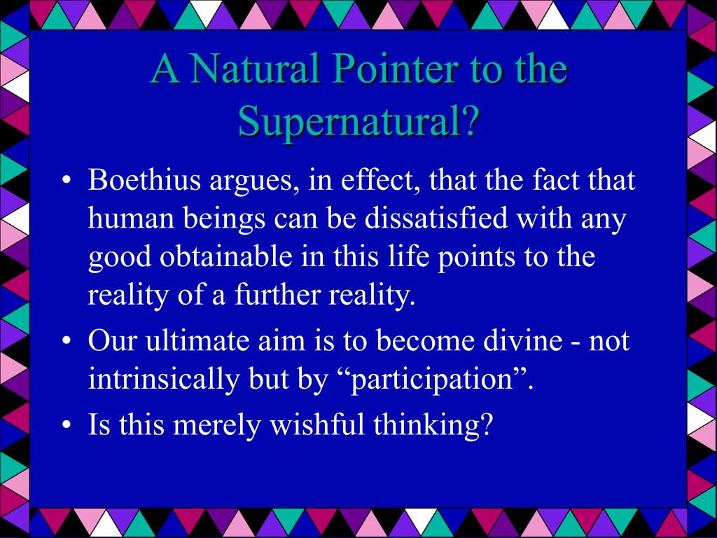 A Natural Pointer to the Supernatural?