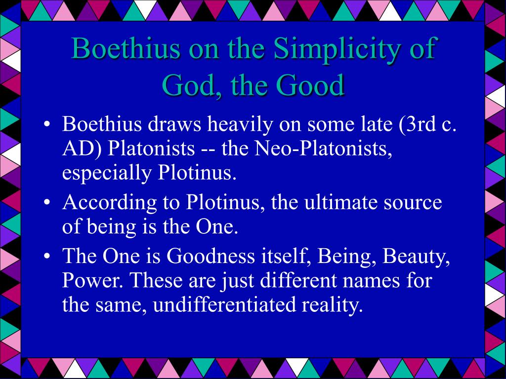 Boethius on the Simplicity of God, the Good