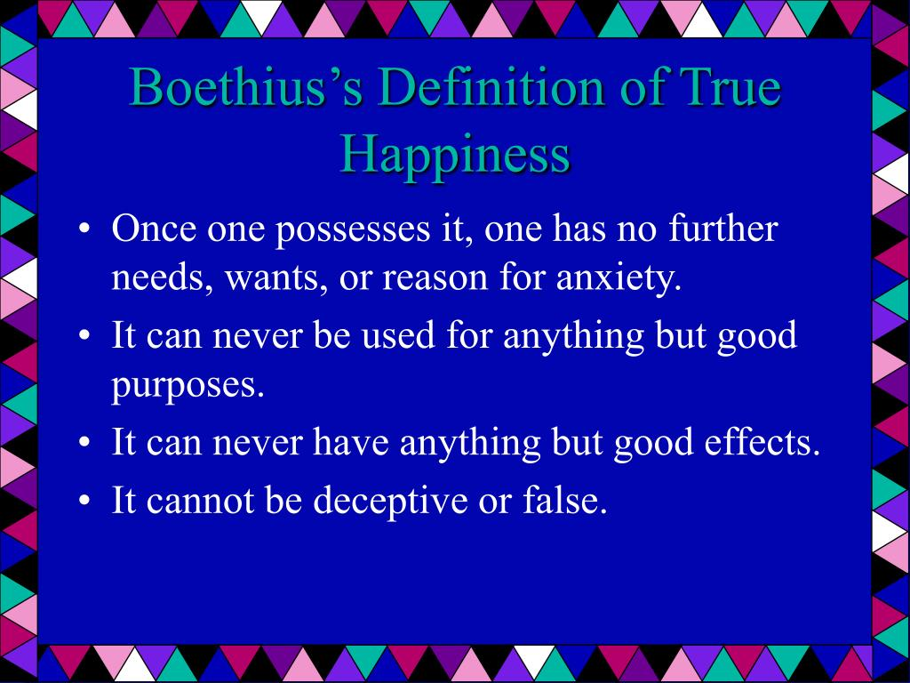 Boethius's Definition of True Happiness