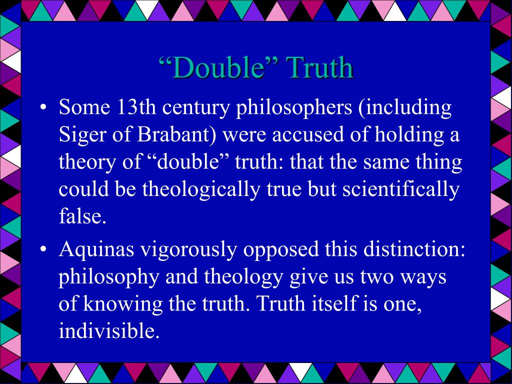 """Double"" Truth"