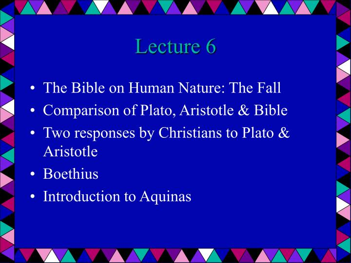 Lecture 6