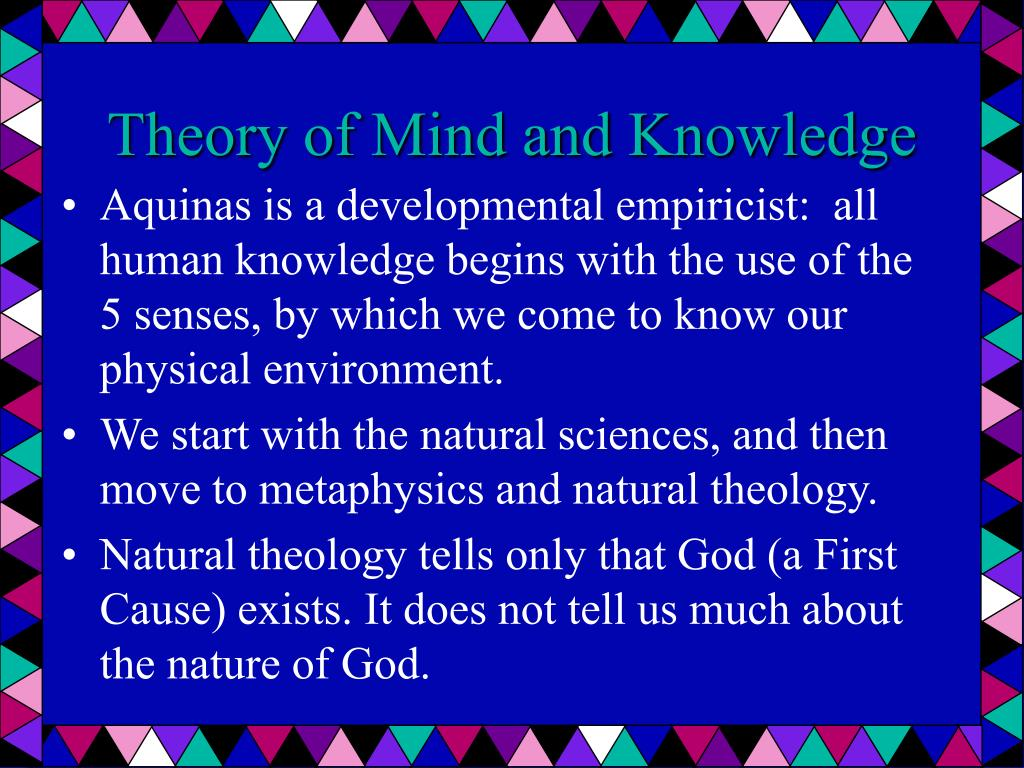 Theory of Mind and Knowledge