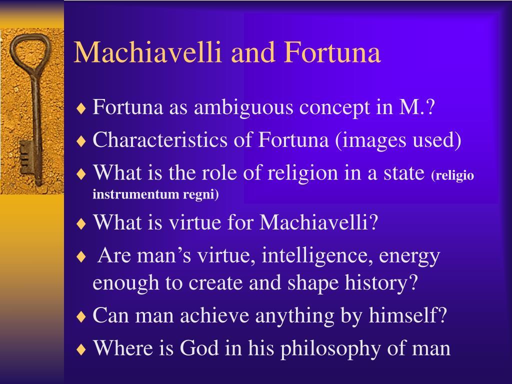 Machiavelli and Fortuna