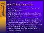 new critical approaches