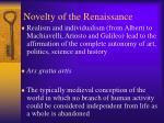 novelty of the renaissance