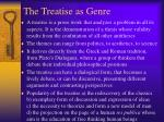 the treatise as genre