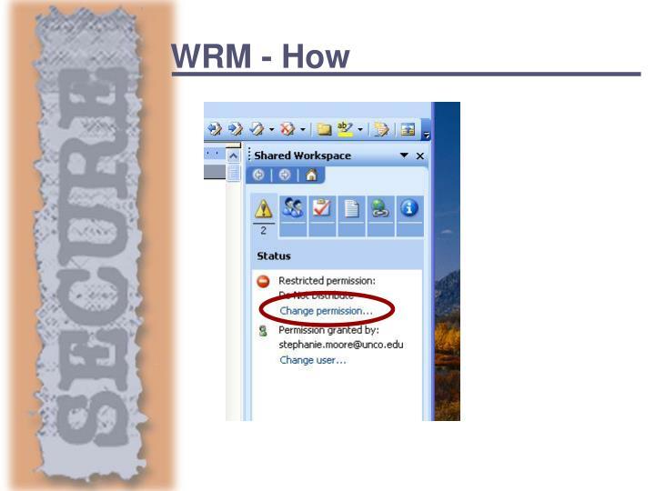 WRM - How
