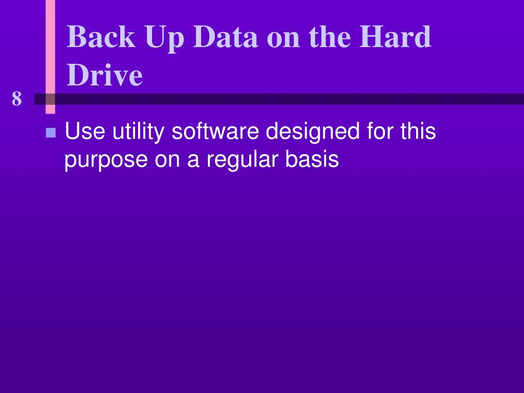 Back Up Data on the Hard Drive