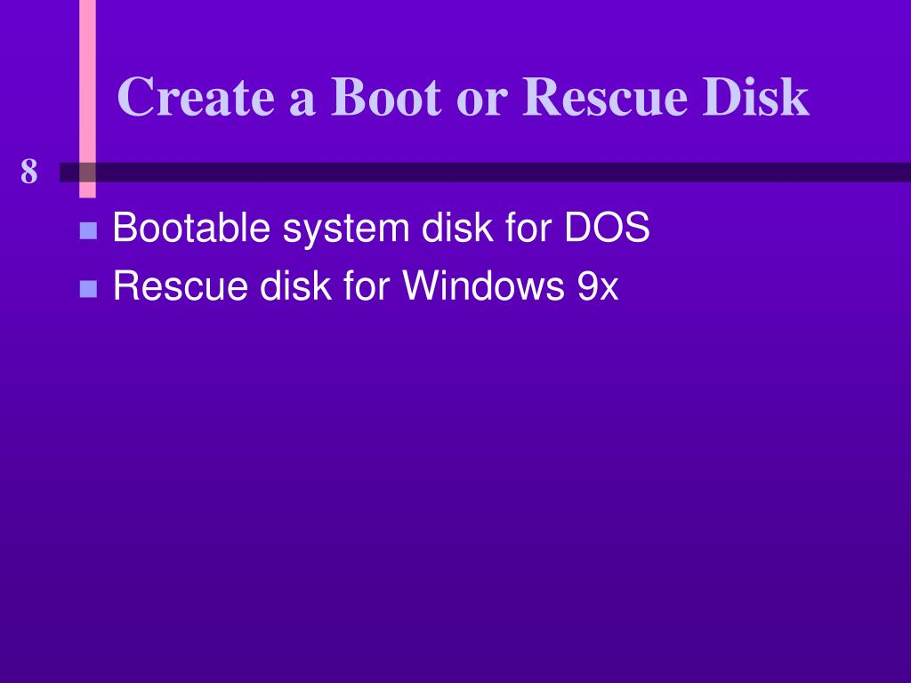 Create a Boot or Rescue Disk