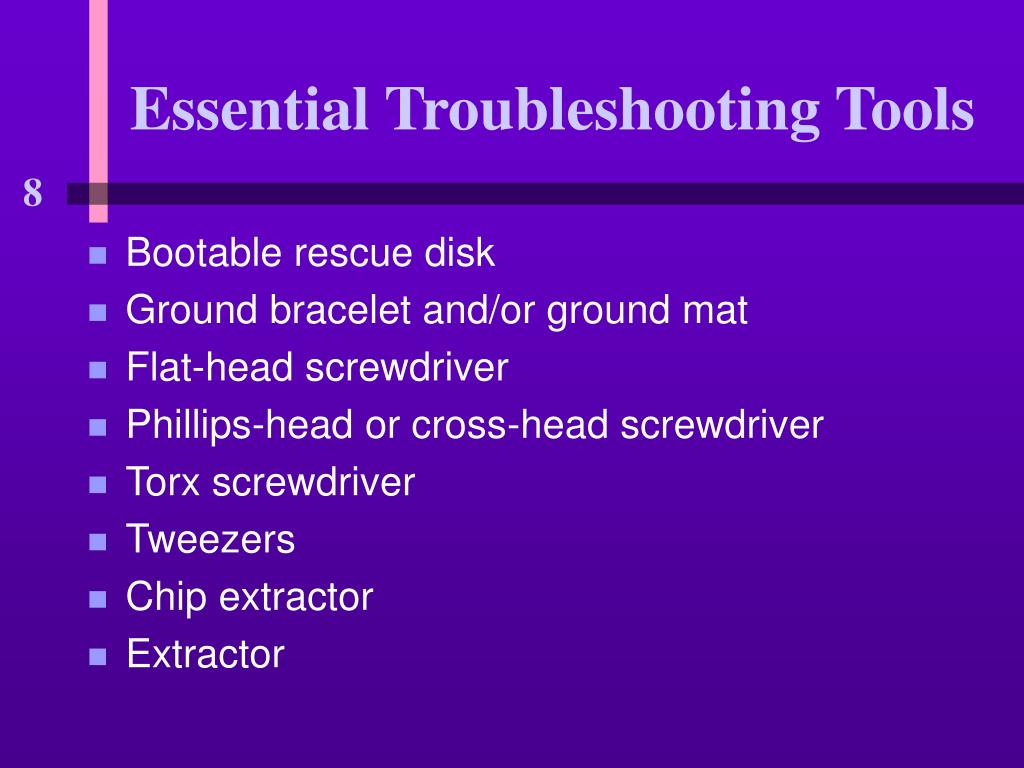 Essential Troubleshooting Tools