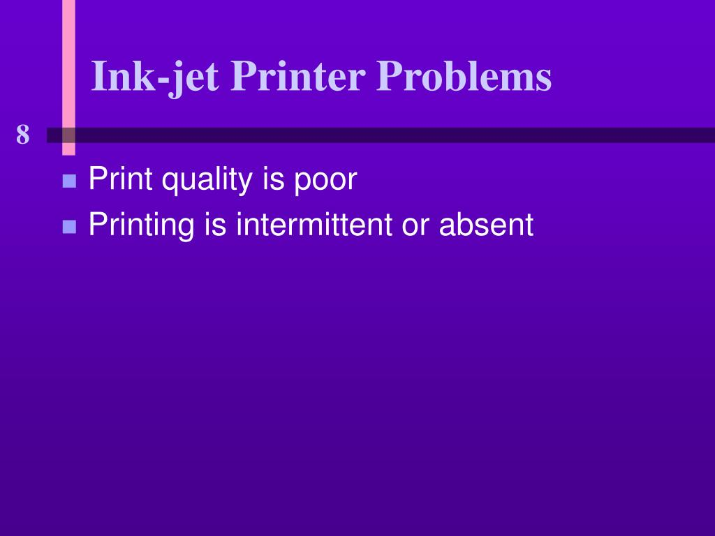 Ink-jet Printer Problems