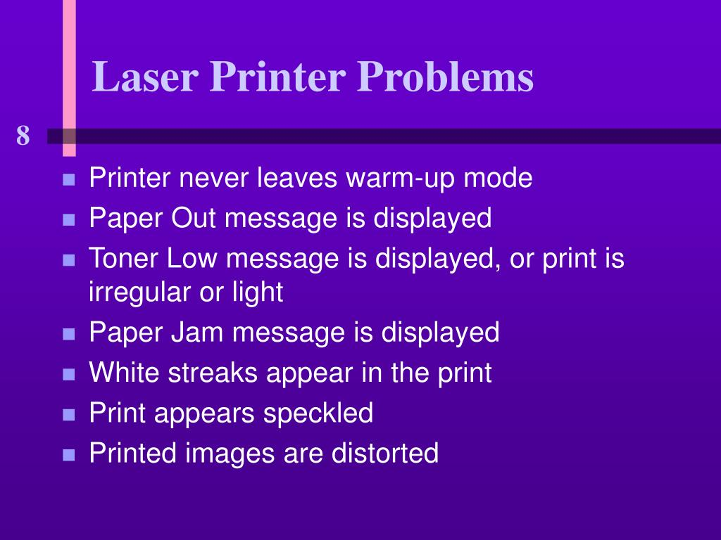 Laser Printer Problems