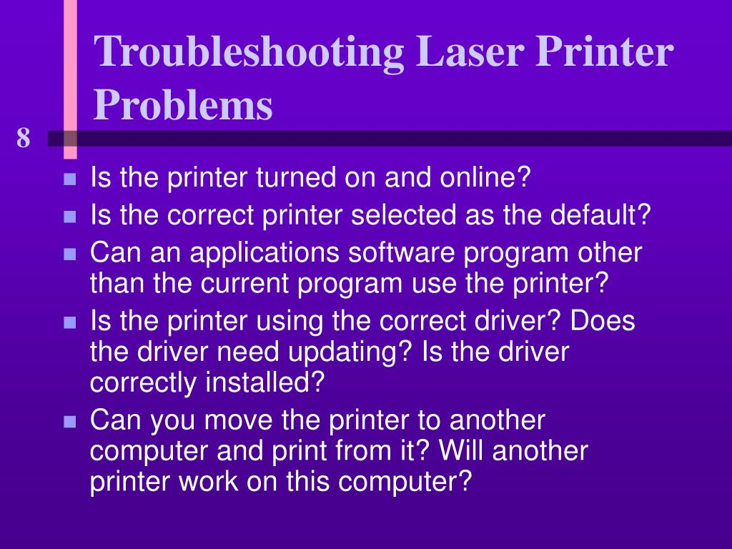 Is the printer turned on and online?