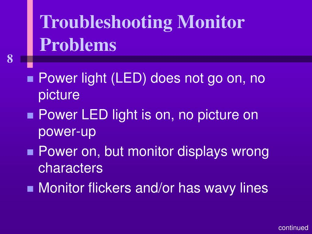Troubleshooting Monitor Problems