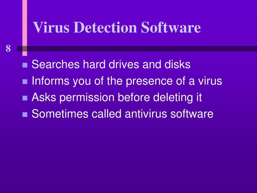 Virus Detection Software