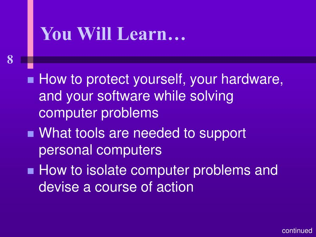 You Will Learn…
