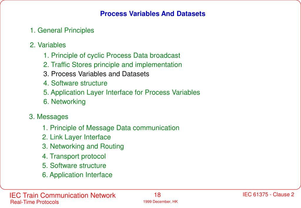 Process Variables And Datasets