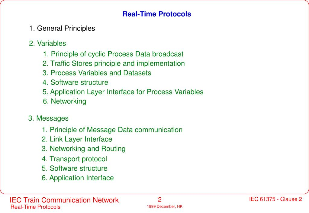 Real-Time Protocols
