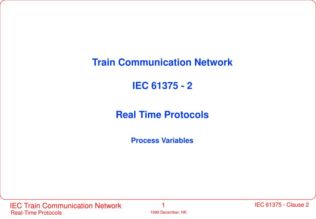 Train Communication Network