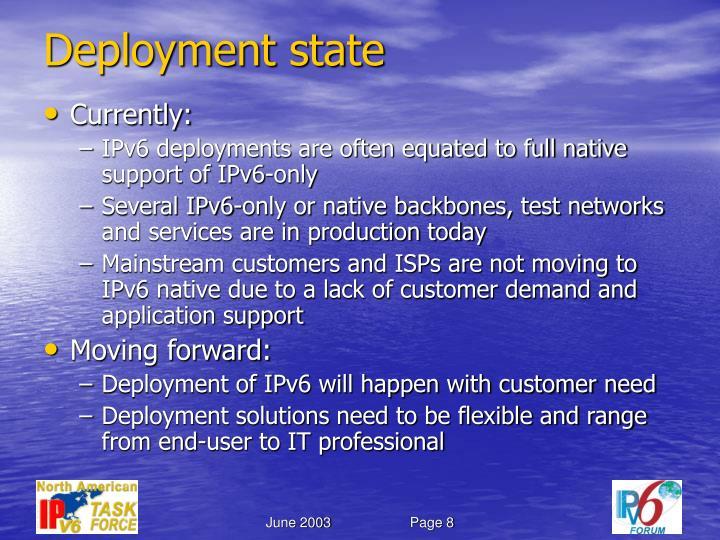 Deployment state