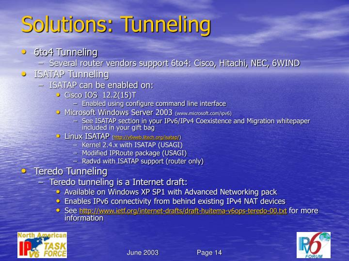 Solutions: Tunneling