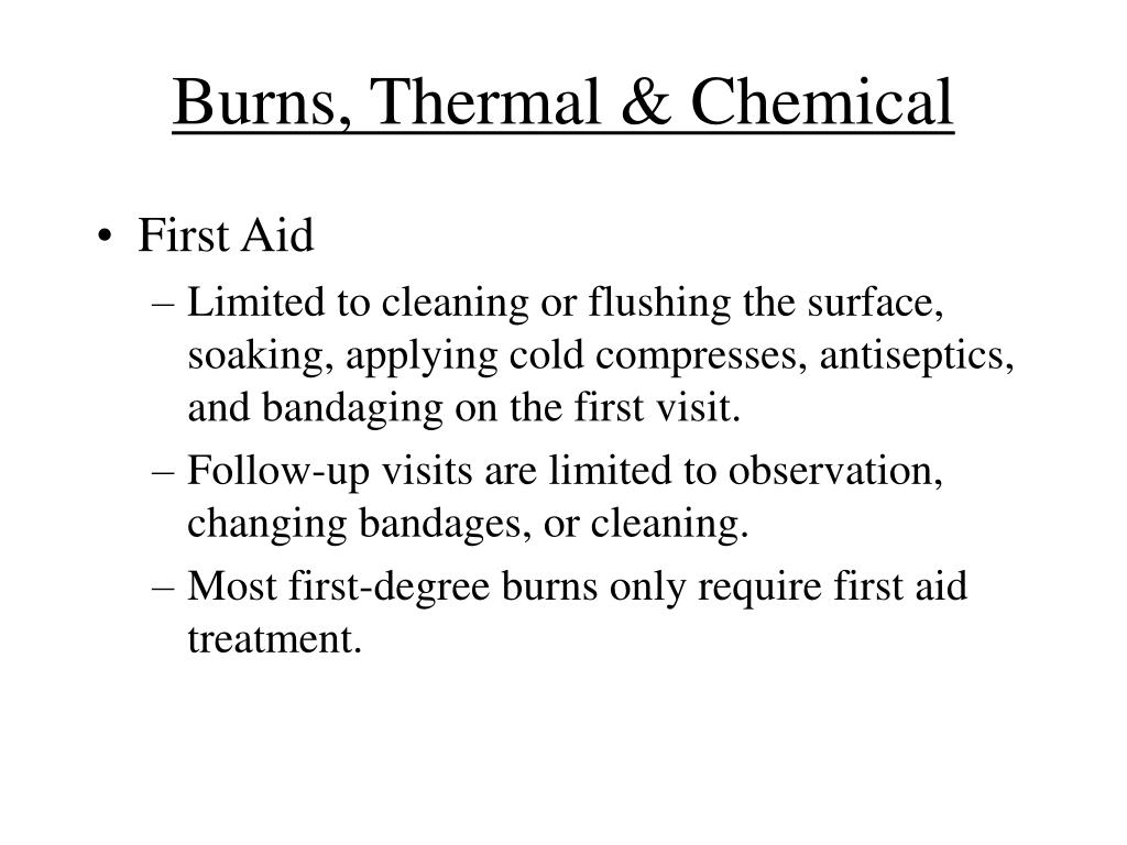 Burns, Thermal & Chemical