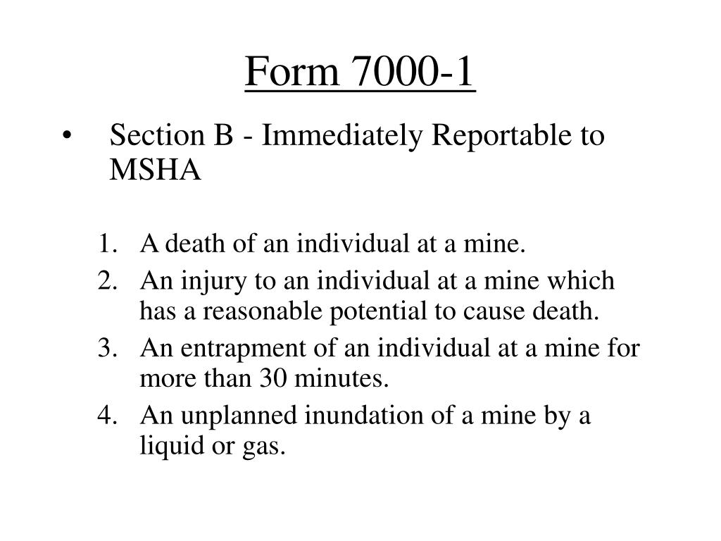 Form 7000-1
