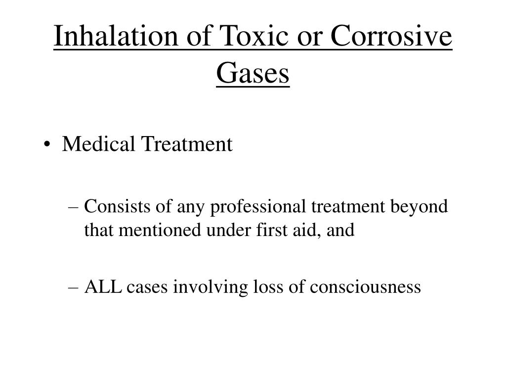 Inhalation of Toxic or Corrosive Gases