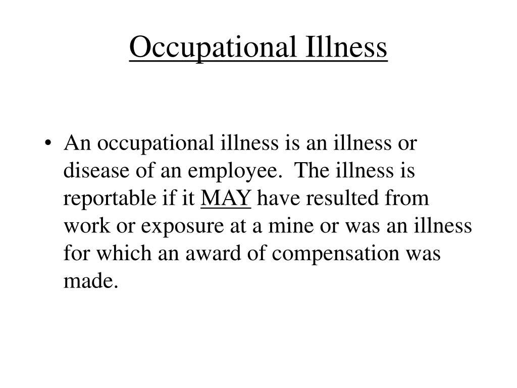 Occupational Illness
