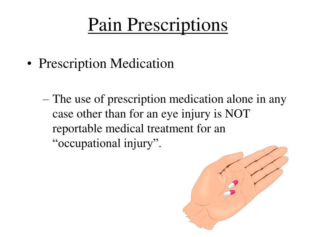 Pain Prescriptions