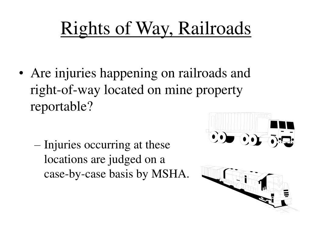 Rights of Way, Railroads