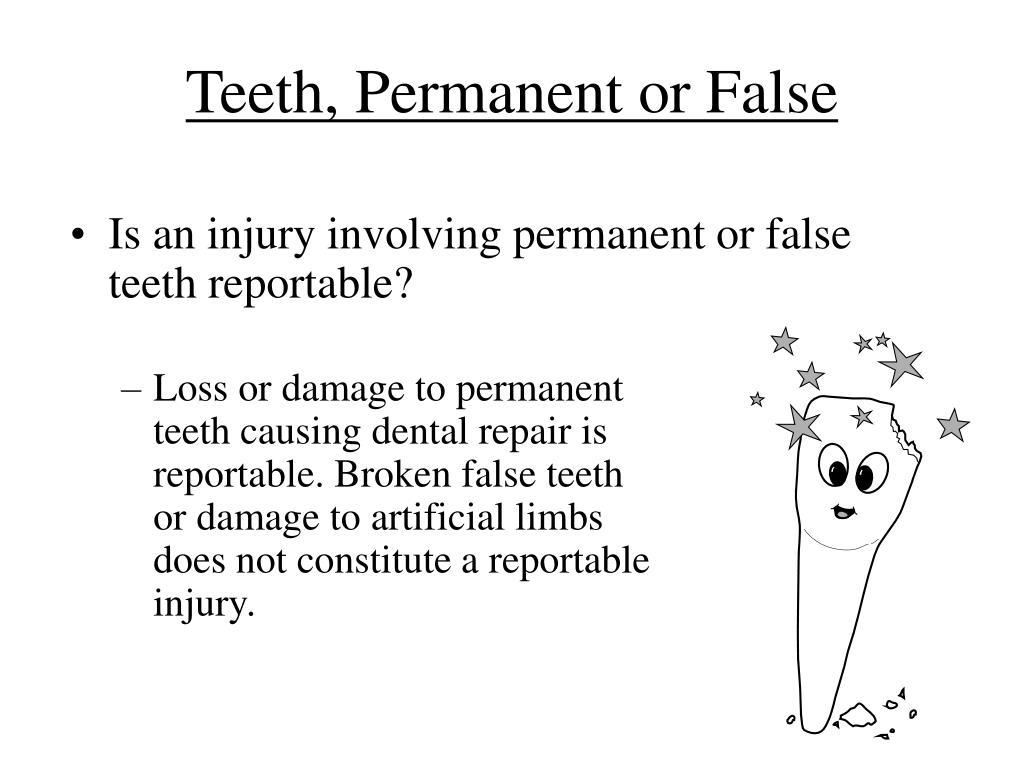 Teeth, Permanent or False