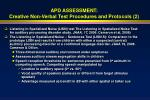 apd assessment creative non verbal test procedures and protocols 2