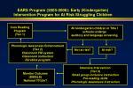 ears program 2005 2006 early kindergarten intervention program for at risk struggling children