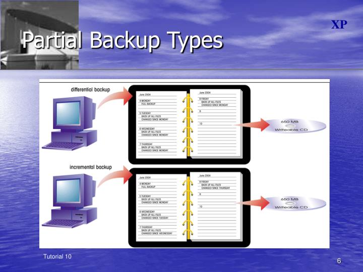 Partial Backup Types