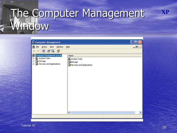 The Computer Management Window