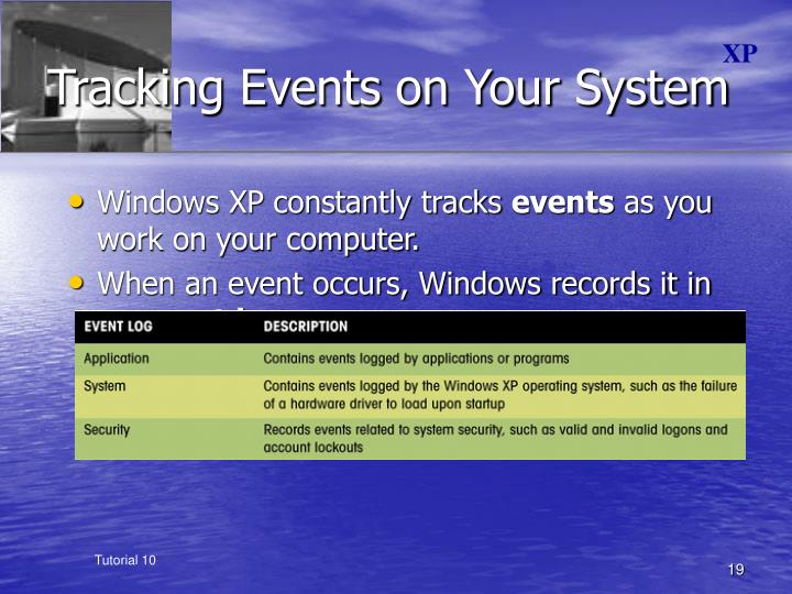 Tracking Events on Your System