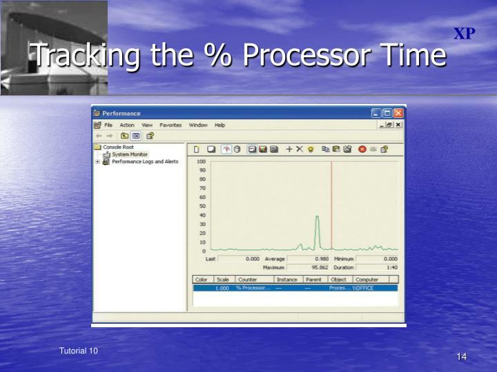 Tracking the % Processor Time
