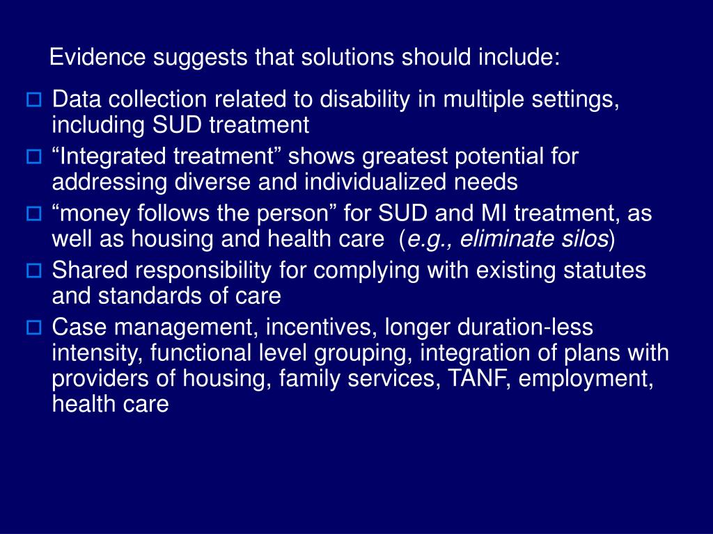 Evidence suggests that solutions should include: