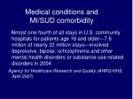 medical conditions and mi sud comorbidity