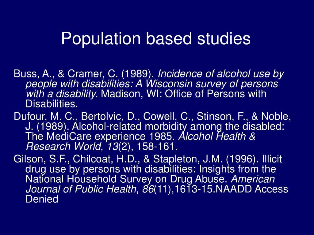 Population based studies